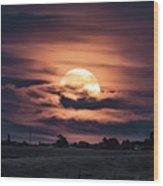 Harvestmoon Wood Print