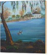 Harveston Lake Geese Wood Print