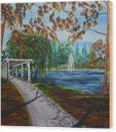 Harveston Lake Path Wood Print