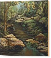 Harvey's Creek Wood Print