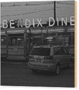 Hasbrouck Heights, Nj - Bendix Diner 3 Wood Print