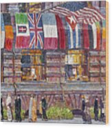 Hassam: Allied Flags, 1917 Wood Print