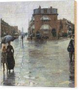 Hassam: Rainy Boston, 1885 Wood Print