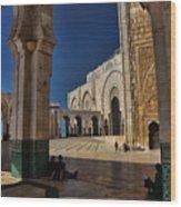 Hassan II Mosque  Wood Print