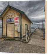 Hastings Jetty Wood Print