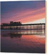 Hastings Pier - Purple Wood Print