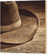 Hat Wood Print
