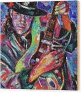 Hat And Guitar Wood Print by Debra Hurd