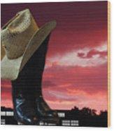 Hat N Boots 11 Wood Print