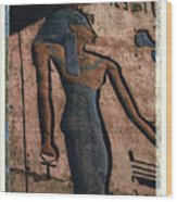 Hathor Holding The Ankh Sign Wood Print