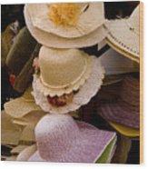 Hats Capri Italy Wood Print