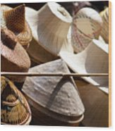 Hats For Sale Wood Print