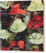 Hats In A Window Wood Print