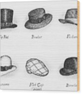 Hats Of A Gentleman Wood Print by Adam Zebediah Joseph