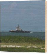 Hatteras Ferry To Ocracoke Wood Print
