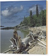Hattie's Bay In Pukaskwa National Park Ontario Wood Print