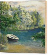 Hatzec Lake Wood Print
