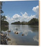Haulover Canal On The Space Coast Of Florida Wood Print