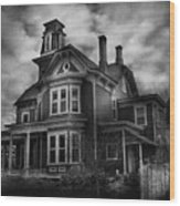 Haunted - Flemington Nj - Spooky Town Wood Print