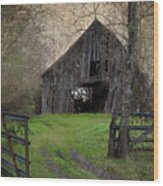 Haunted Barn Wood Print