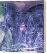 Haunted Caves Wood Print by Linda Sannuti