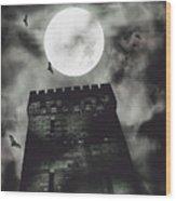 Haunted Dark Castle Wood Print