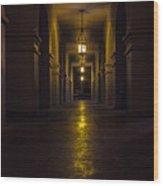 Haunted Hallways Wood Print