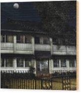 Haunted Hotel Wood Print