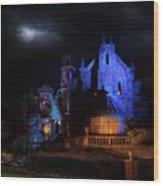 Haunted Mansion At Walt Disney World Wood Print