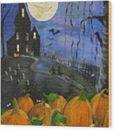 Haunted Night Wood Print by Sylvia Pimental