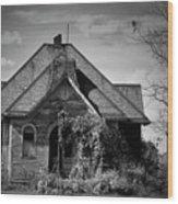 Haunted School House Wood Print