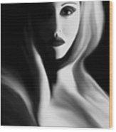 Haunted - Self Portrait Wood Print