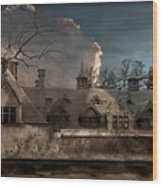 Haunted Stable Wood Print