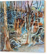Haunted Swampland Wood Print