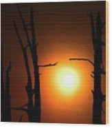 Haunting Sunrise Wood Print