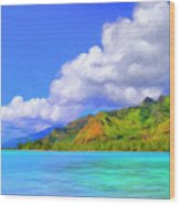 Hauru Point Moorea Wood Print