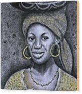 Hausa Maiden  Wood Print