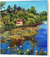 Hause By The Lake Wood Print