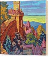 Haut Koenigsburg Castle, Alsace, France Wood Print