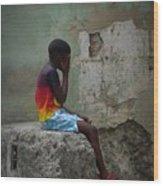 Havana Boy Wood Print