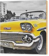 Havana Chevy Dreams  Wood Print