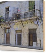 Havana City Apartments  Wood Print