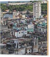 Havana Cityscape Wood Print
