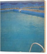 Havana Cuba Swimming Pool And Ocean Wood Print