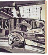 Havana Cuba Taxi Wood Print