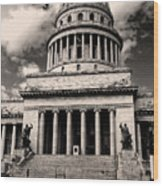 Havana El Capitolio Wood Print