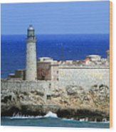 Havana Harbor Lighthouse Wood Print