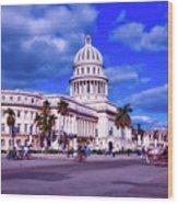 Havana National Capitol Wood Print