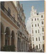 Havana Vieja Wood Print