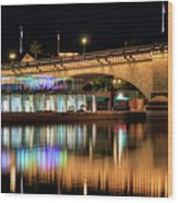 Havasu At Night Wood Print